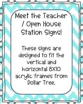 Meet the Teacher Station Signs
