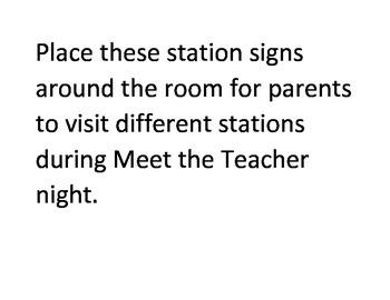Meet the Teacher Stations