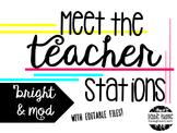 Meet the Teacher Stations -Bright & Modern ~Editable~