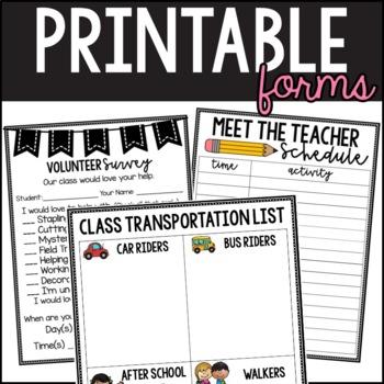 Meet the Teacher Stations & Documents