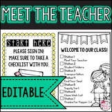 Editable Meet the Teacher Night