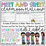 Meet the Teacher Stations EDITABLE