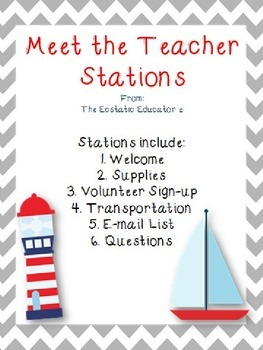 Meet the Teacher Stations- Nautical Theme