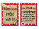 Meet the Teacher Stations - Rustic Red Editable