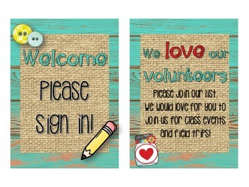 Meet the Teacher Stations -Rustic Wood - Wood, Burlap, Mason Jars ~Editable~