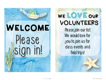 Meet the Teacher Stations - Under the Sea ~Editable