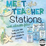 Meet the Teacher Stations - Under the Sea ~Editable