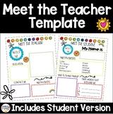 Meet the Teacher & Student- All About Me