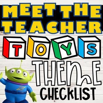 Meet the Teacher Student Checklist:: Toys Theme