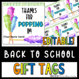 Meet the Teacher Student Gift Tags - Gift Tags for Open House - Rock Candy