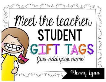 Meet the Teacher Student Gift Tags and MORE