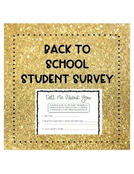 Meet the Teacher Student Survey