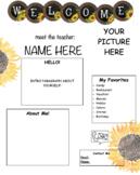 Meet the Teacher/Student Teacher Template