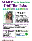 Meet the Teacher Succulent Theme