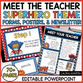 Meet the Teacher-Super Heroes Theme