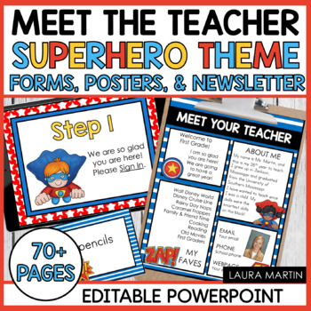 Meet the Teacher-Super Heroes Theme