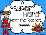 Meet the Teacher Superhero *Editable* Station Signs
