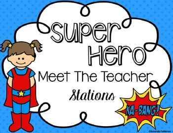 Meet the Teacher Superhero *Editable* Station Signs