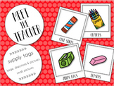 Meet the Teacher Supply Signs {Editable}
