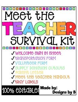Meet the Teacher Survival Kit