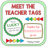 Meet the Teacher Tags