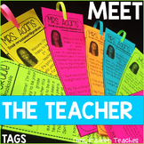 Meet the Teacher-Tags