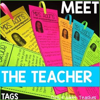 Meet the Teacher-Tags