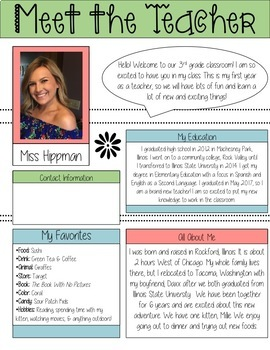 Meet the Teacher Template