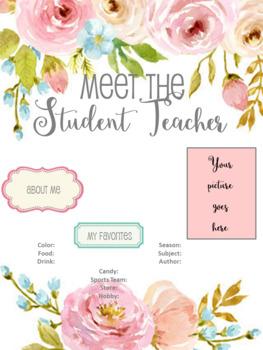 Meet the Student Teacher Template