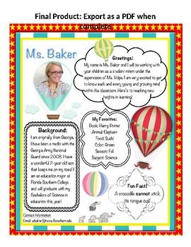 Meet the Teacher- Template
