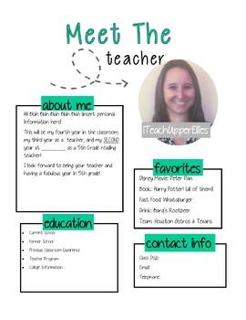 Meet the Teacher Template (Back to School)
