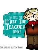 Meet the Teacher Template, Beginning of the Year Bundle, First Time Teachers