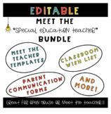 Meet the Teacher Template Bundle for Special Education