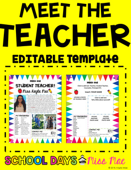 Meet the Teacher Template - EDITABLE