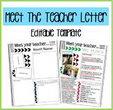 Meet the Teacher Letter Template- EDITABLE COLORS!
