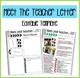 Meet the Teacher Letter Template- EDITABLE COLORS!