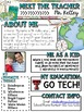 TRAVEL Meet the Teacher Template EDITABLE Newsletter