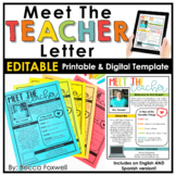 Meet the Teacher Template - Editable!