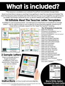 Meet the Teacher Template - Editable!