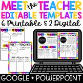 Meet the Teacher Template Editable Letter Colorful Paint