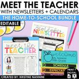 Back to School Meet the Teacher  - Newsletter - Calendar -