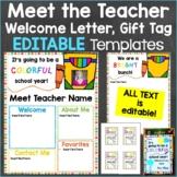 Meet the Teacher Template Editable Print & Digital Back to School Crayon Theme