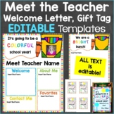 Meet the Teacher Template Editable Print & Digital Back to
