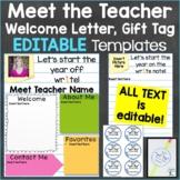 Meet the Teacher Template Editable Print & Digital Back to School Notebook Theme
