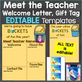 Meet the Teacher Template Editable Print & Digital Beach Theme