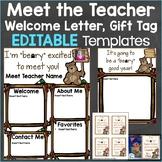 Meet the Teacher Template Editable Print & Digital Bear Theme