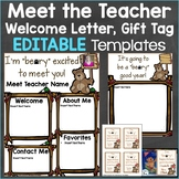 Meet the Teacher Template Editable Print & Digital Bear Theme