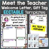 Meet the Teacher Template Editable Print & Digital Dog Theme