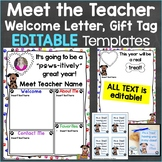 Meet the Teacher Template Editable Print & Digital Dog Theme