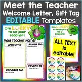 Meet the Teacher Template Editable Print & Digital Lucky Theme